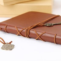 Wholesale Vintage PU Leather Journal Notebook Classic Retro Diary Book Customize logo Words Gift personalized customization notebook