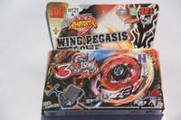 al por mayor pegasis ala beyblade-1piece del metal de Beyblade Lucha fusión definitiva DX SET 4D Ala Pegasis Pegasus 90WF Beyblade BB121A