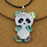 abalone jewelry making - 1PC Animal Panda White Abalone Shell Necklace Pendants For Jewelry Making Findings DIY Accessories F1505