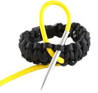 al por mayor agujas de tejer de acero-Aguja de Paracord del acero inoxidable 5pcs / lot 3FT con la aguja de punta del eje de rosca del tornillo que riega las agujas Fid para la pulsera de Knit Pracord