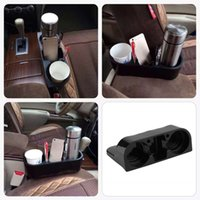 Wholesale New Fashion Multifunction Car Cup Holder Double Cup Position Holder Auto Drink Holder Car Seat Gap Storage Box