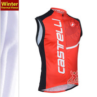 Wholesale 2013 Red Scorpion castell thermal fleece sleeveless bike jersey vest Mayo winter cycling clothing vest high quality cycling clothing