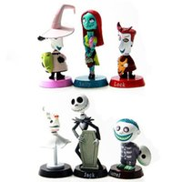 big car jack - Jack Skelling Nightmare before Christmas ton bubble head figures PVC toys cake car decoration gifts