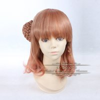 amnesia cosplay - Top Quality Light Brown Brick Red Synthetic Wigs Heroine Amnesia Cosplay Wig Fashion Anime Ombre Wigs CW07B