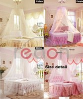 canopy - New Elegant Lace Bed Mosquito Netting Mesh Canopy Princess Round Dome Bedding Net
