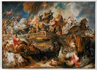 amazons art - Battle of Amazons by Peter Paul Rubens Top Quality Large Oil Painting Wall Art for Living Room or Hotel H