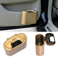 auto trash containers - Stylish Noble Luxury Mini Car Auto Trash Can Garbage Dust Box Case Holder Rubbish Bin container Storage Cube