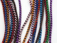 leather cord braided - Hot mm color Square Braided Bolo Synthetic Leather Jewelry Cord String Applicable necklace or bracelet Rope Long m