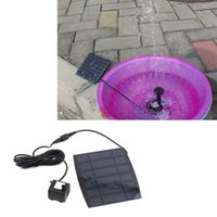 Nueva bomba solar de la venta caliente para el ciclo del agua / fuente de la charca / Jardín de rocalla de refrigeración Bombas de aire libre del envío