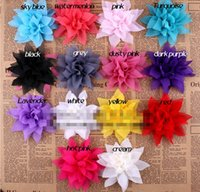 baby embellishment - 15 off new arrival quot Colors Newest Leaf Multilayer Flower For Embellishment Large Chiffon Flower Baby hair accessories