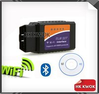 Wholesale By DHL or EMS Pieces of Quality A For ELM327 WIFI Auto Scanner Wireless Scan OBD Diagnostic Tools Adapter Q