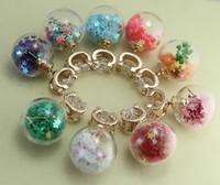 Wholesale 2015 Transparent Glass Ball Earrings Double Side Crystal Earrings Colored Beads Inside Zircon Stud Earrings For Women J301