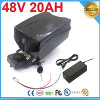 Wholesale 1000W Electric Bike Ebike V AH Li ion Battery with Frog Case BMS and Charger Bike Electric Bicycle Battery For Electric Scooter