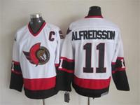 Wholesale discount Ottawa Senators Ice Hockey jersey Alfredsson Spezza Neal Jerseys Embroidery logos