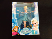 Wholesale 2016 Frozen New Princess Dolls flying Elsa Toys s Automatically start Flying Induction Frozen Toys rc helicopter Brinquedos Kids Dolls