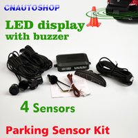 Wholesale Car LED Parking Sensor Kit Display Sensors mm V for all cars Reverse Assistance Backup Radar Monitor System