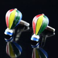 balloon designers - New Fire Balloon Cufflink French Cufflinks Father s Day Gift For Mens Jewelry Designer Cuff Links C202