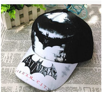 Wholesale Batman Cartoon Hats Children Fashion Ball Caps Kids Visor Children Accessories Hats Black Blue A1DA4C