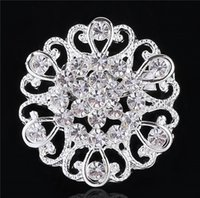 Wholesale Brooch rhinestone silver plated Fashion brooches pins silver vintage Crystal brooch bouquet for wedding Womens brooch a962