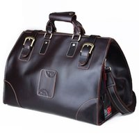Wholesale Men s Traveler Genuine Cowhide Leather Travel Bag Luggage Duffle Gym Bags Case