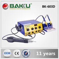 Wholesale 6 pieces LCD display SMD Rework Station BK D Soldering Iron Brushless Hot Air Gun in set BAKU Products