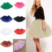 Wholesale 2015 HOT New Women Girl Pretty Elastic Stretchy Tulle Dress Teen Layer Adult Tutu Skirt