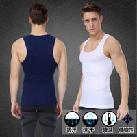 Wholesale Mens Body Shaper Vest Belly In Slimming Elasticity Shapewear Men s Summer Beer Belly Thin Breathable Shapers Waistcoat Sport Bodysuits
