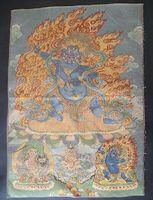 Wholesale Tibet Tibetan Silk Inwrought meditation thangka tibetan Buddha H09