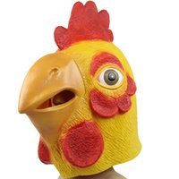 adult chicken costume - 2015 new hot chicken mask Chicken Head Rubber Latex Halloween Costume Mask Prop Theater mask novelty