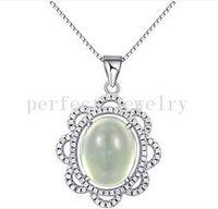 Wholesale Prehnite jewelry Grapestone pendant Original natural prehnite sterling silver Perfect jewerly Fine gemstone jewelry DH