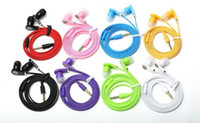 bass gifts - Flat Cable Earphone mm Headphone headset For Samsung iPhone s Stereo Bass MP3 MP4 B brand fone de ouvido gift