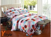 Wholesale Squre Obsession Pattern Bedding Set for Full Size for King Queen Size Made of Full Velure Cotton