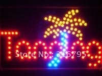 Acheter Signes néon de bronzage-Gros-led096-r Bronzage Sun Boutique Led Neon Sign WhiteBoard