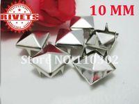 pyramid studs - Free shiping mm Silver Pyramid Studs Spots Punk Rock Biker Spikes Rivets Bag Shoes Bracelet Clothes DIY