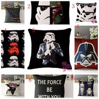 Wholesale Star Wars The Force Awakens Designs Star Wars cases Pillow Covers Cartoon Minions Cushion Covers Linen Christmas Pillow Case Cushion