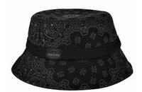 Wholesale bonnie basic hunting fishing bucket Boonie hat bob summer outdoor Reversible brand paisley hat cap hip hop