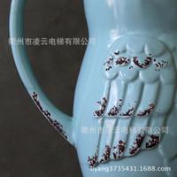Wholesale American country monaural owl glazed ceramic vase flower vase
