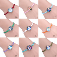 children charm bracelet - 2014 NEW Vintage Frozen Pendant bracelets Frozen Elsa Rhinestone Snowflake Pendant Necklace Children Kids Jewelry