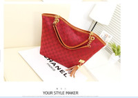 Wholesale Free DHL Brand New Fashion Vintage Tassel Women Handbag High Quality Canvas Chain Tote Shoulder Bags Casual Bags Banquet package Wild pack