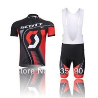 Wholesale 2015 scott men s cycling Jersey sets with short sleeve bike shirt bib short in cycling clothing breathable bicycle wear