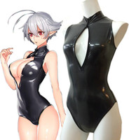 Wholesale Anime Sexy Moe Girls Open Chest Swimsuit Cosplay Costume Tailor Made