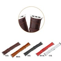 Wholesale Genuine Leather litchi Replacement Wrist Band Strap Buckle for iwatch Sport Edition
