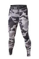 base layer - 2015 summer men slim skins camouflage compression outdoor pants sport tights Running camo quick dry Base Layer fitness jogging Trousers