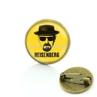 bad wedding dress - Personalitily dress Accessory Heisenberg Print brooches pins Breaking Bad bros plated metal jewelry for men BP139