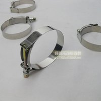 Wholesale T stainless steel strong hose clamps anulated car refires refit the hoop cord lock pipe clamp