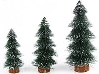 artificial potted christmas trees - New PVC potted artificial christmas tree cm cm cm Mini green pine needles sticking snow christmas tree decorations