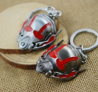 antique cars model - Revenge alliance series ant Helmet Mask model key button keychains pendant Halloween Carnival gift key buckle Car Cartoon Keychains