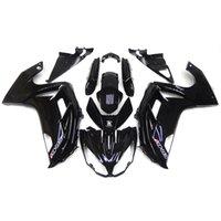Wholesale Full Fairings For Kawasaki ER6F ER f Ninja Year ABS Plastic Motorcycle Fairing Kit Gloss Black Body Frames New