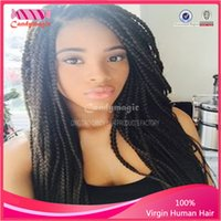 twist tie - Hot Marley braiding hair Afro twist braids Afro kinky wig dirty braid lace front wig hair