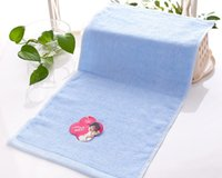 antimicrobial towels - 50pcs Towel manufacturers bamboo fiber color cotton creative green antimicrobial absorbent towel children infant Cazui